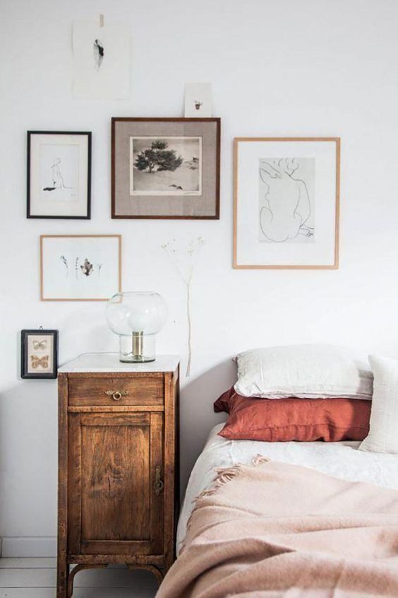 hygge hostess   guest bedroom gallery wall natural decor   Girlfriend is Better