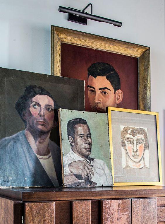 displaying art | portraits random people collage arrangement gallery | Girlfriend is Better