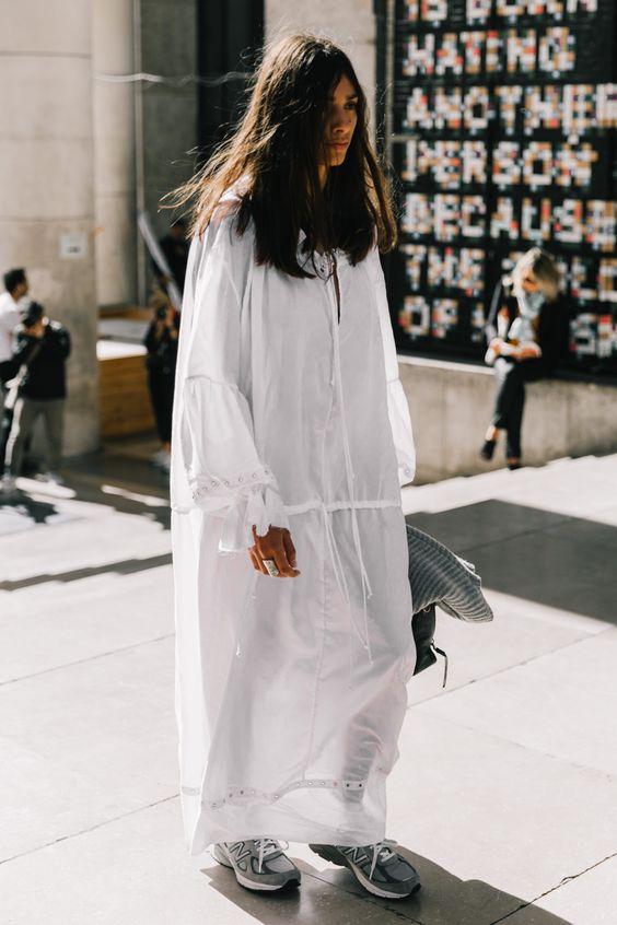 dropped shoulder seams   white windbreaker dress sheer Spring fashion   Girlfriend is Better