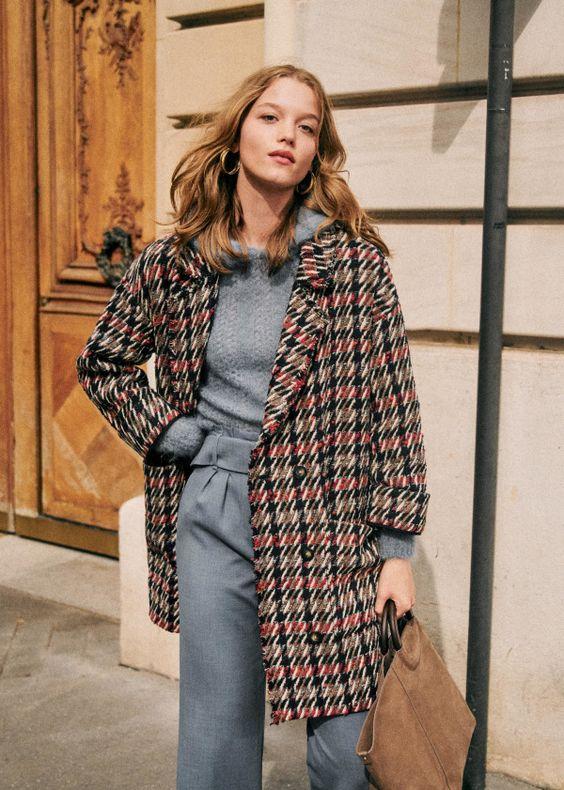 dropped shoulder seams   oversized vintage grandpa wool coat work wear   Girlfriend is Better