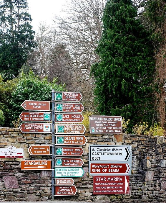 Ireland travel guide   Ring of Kerry Gaelic road signs coastal drive   Girlfriend is Better