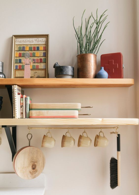 kitchen utility hooks | open shelving hygge hostess hanging rod mugs | Girlfriend is Better