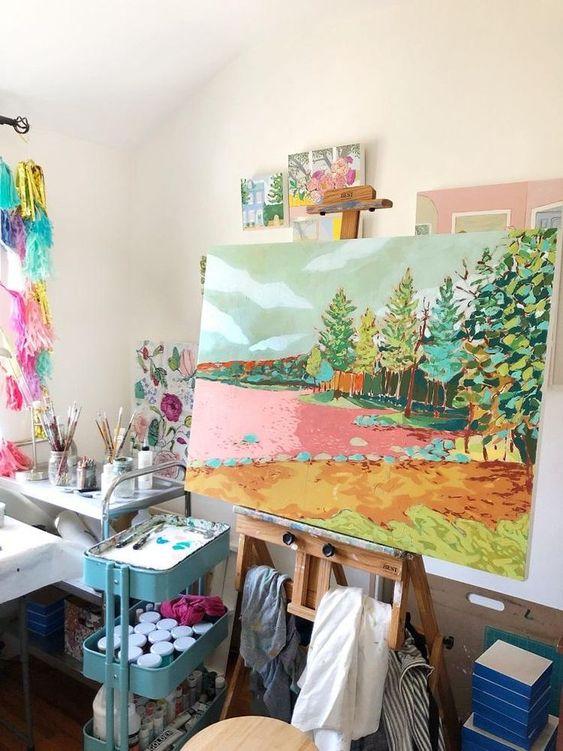 landscape paintings | Pleasant Lake Jennifer Allevato art | Girlfriend is Better