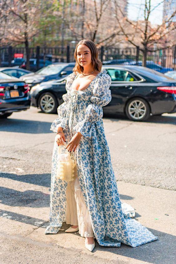 retro romance | spring fashion Victorian puff sleeve maxi dress | Girlfriend is Better