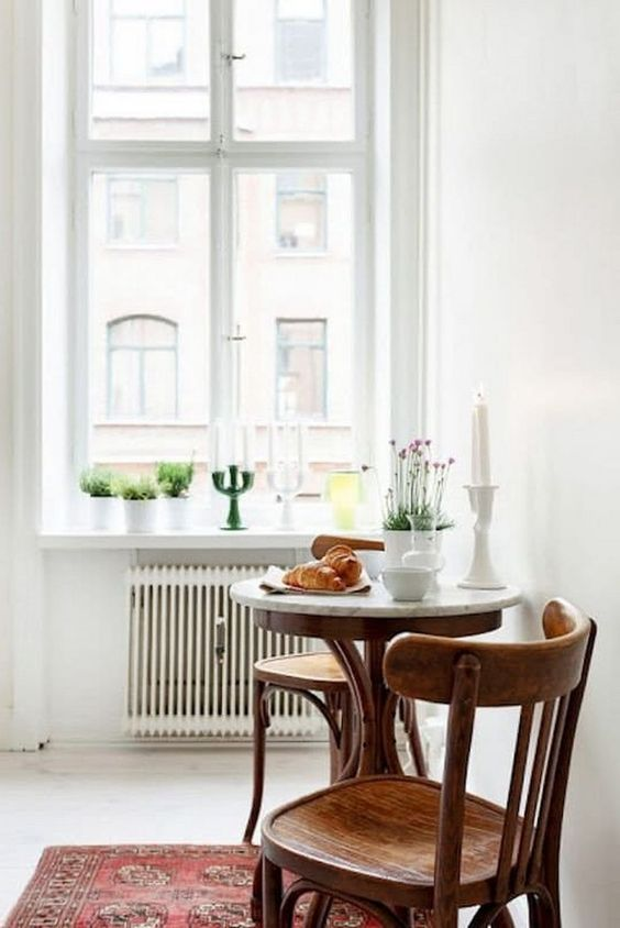 bistro tables | marble top candlesticks plants Feng Shui vintage home decor | Girlfriend is Better