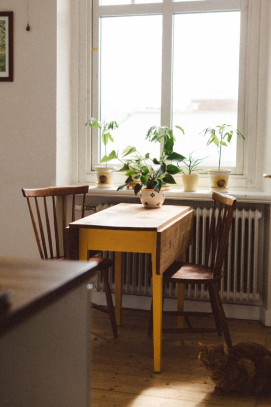 bistro tables | vintage up cycled yellow antique folded leaves | Girlfriend is Better