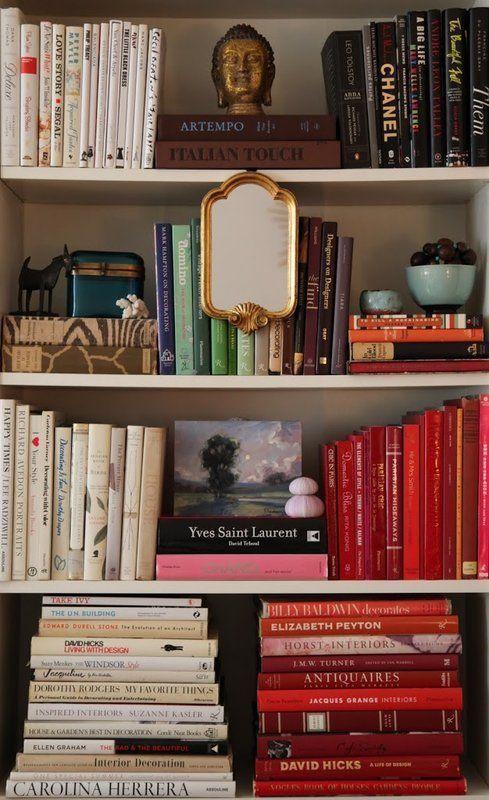 gilded mirror Feng Shui   bookshelves styling Bohemian   Girlfriend is Better
