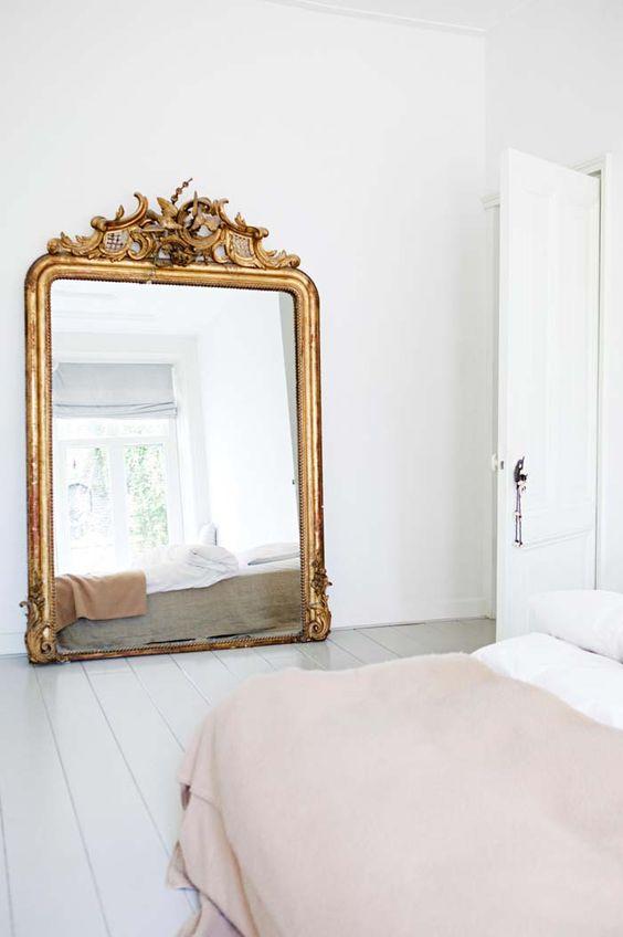 mirror Feng Shui   bedroom Italian gilded floor full-length   Girlfriend is Better