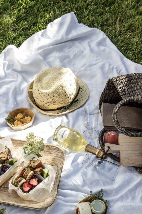 staycation activities   French picnic basket favorite books authors poetry backyard   Girlfriend is Better