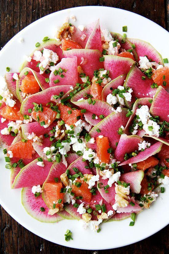 May seasonal vegetables | Quinoa Salad Radishes Walnuts Spring Onions healthy vegetarian recipes | Girlfriend is Better