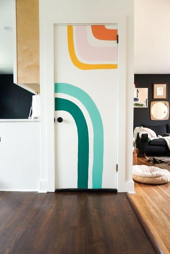 painting murals | abstract art water element door | Girlfriend is Better