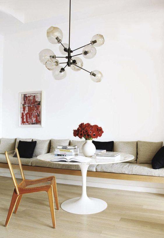bench seating | built in dining room breakfast nook | Girlfriend is Better