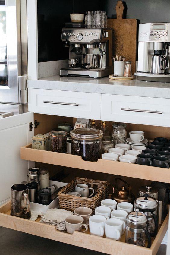 home coffee station DIY   kitchen organization   Girlfriend is Better