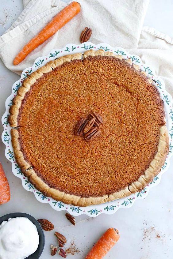 September seasonal vegetables   Homemade spiced carrot pie recipe   Girlfriend is Better