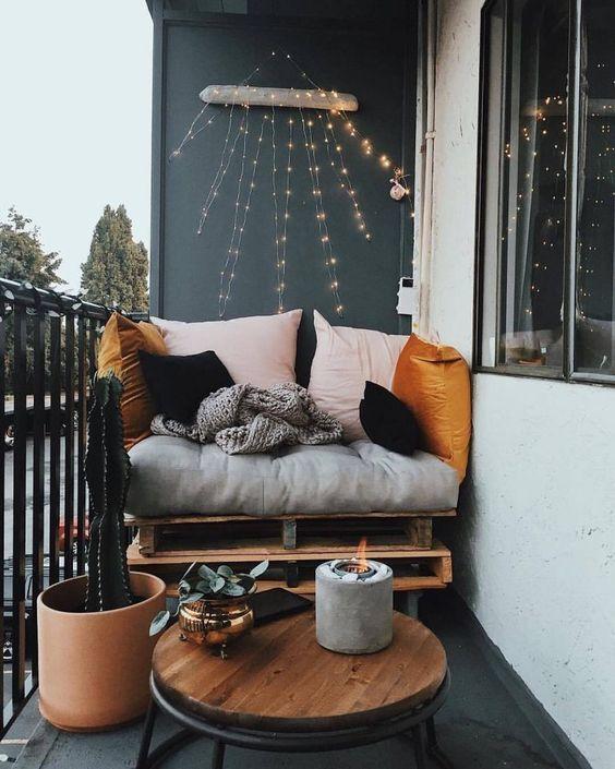 black floors | Bohemian patio balcony nook outdoors | Girlfriend is Better