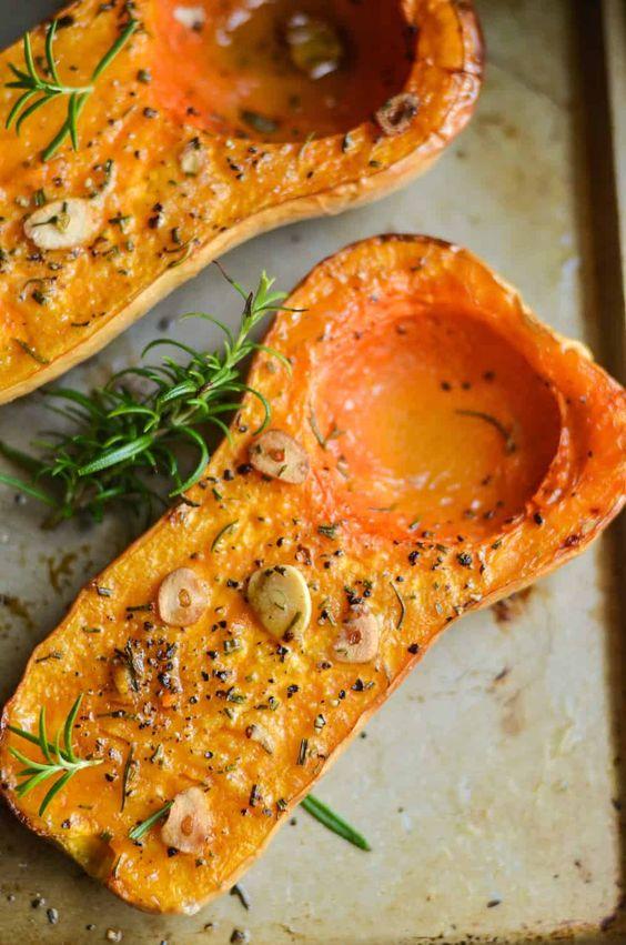 November seasonal vegetables | rosemary roasted butternut squash recipe | Girlfriend is Better