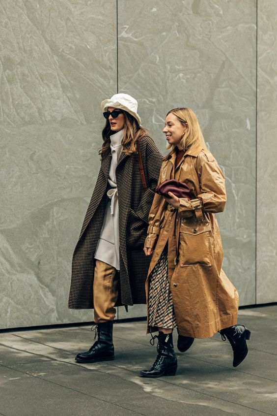 oversized trench coats   patent polyester square large pockets belted grandpa twill gabardine fabric   Girlfriend is Better