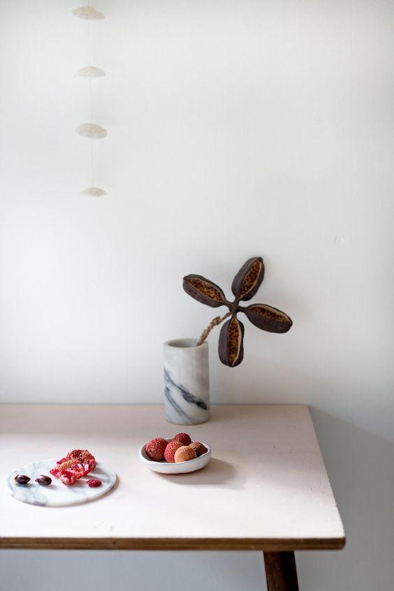 plant minimalism | hygge kitchen table simple abundance | Girlfriend is Better