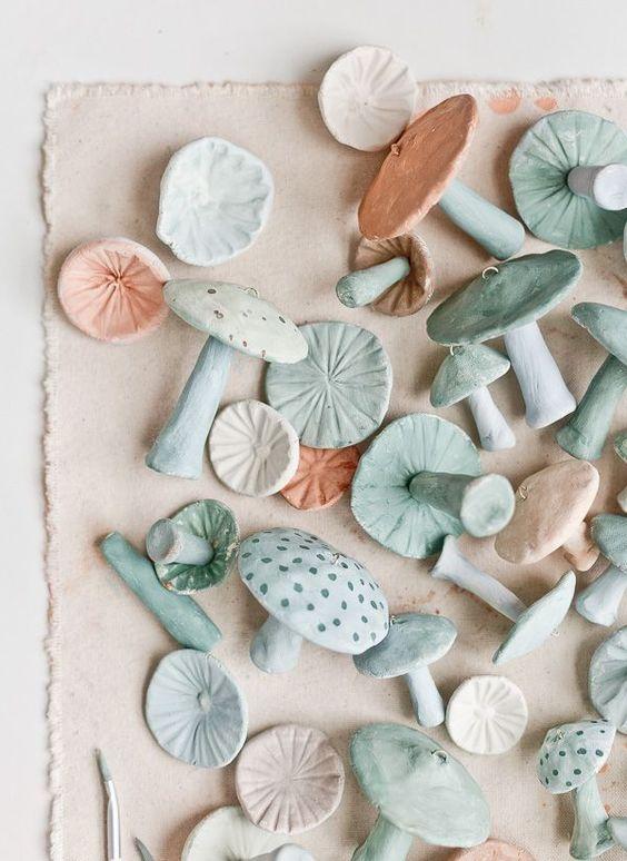 cozy Christmas | handmade clay mushroom ornaments DIY | Girlfriend is Better