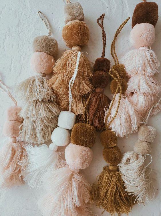 cozy Christmas | handmade pom pom tassels gift giving creative | Girlfriend is Better