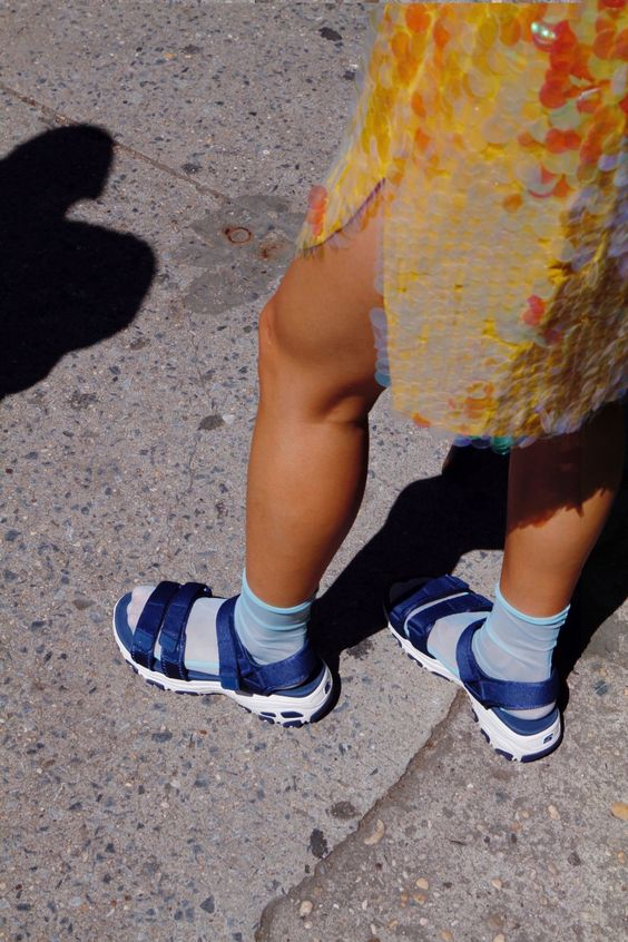 chunky sandals | dad wear summer outfit socks | Girlfriend is Better
