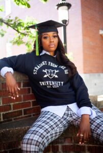 Raven Smith Posing in Straight From The Go University Shirt