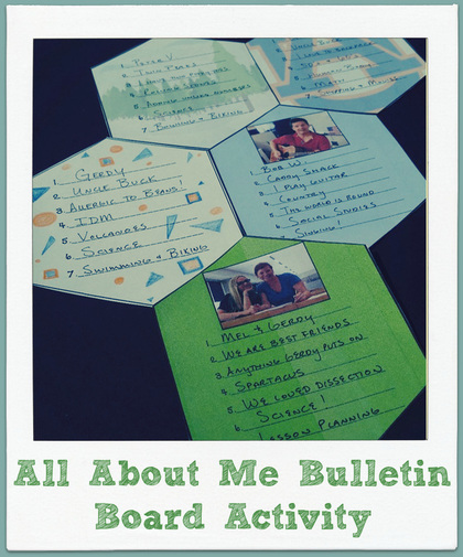 Back to school blog post: Bulletin board and back to school get to know you activity- All About Me!
