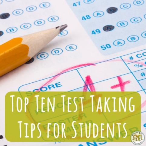 Lesson Plan: Top Ten Test Taking Strategies