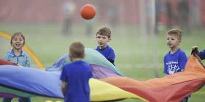 parachute games at camp