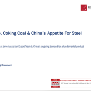 Iron Ore Coking Coal and China's Appetite for Steel