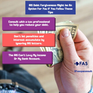 IRS Debt Forgiveness Might be An Option For You If You Follow These Tips