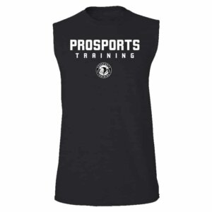 An image of a black Men's Pro Sports Training sleeveless t-shirt