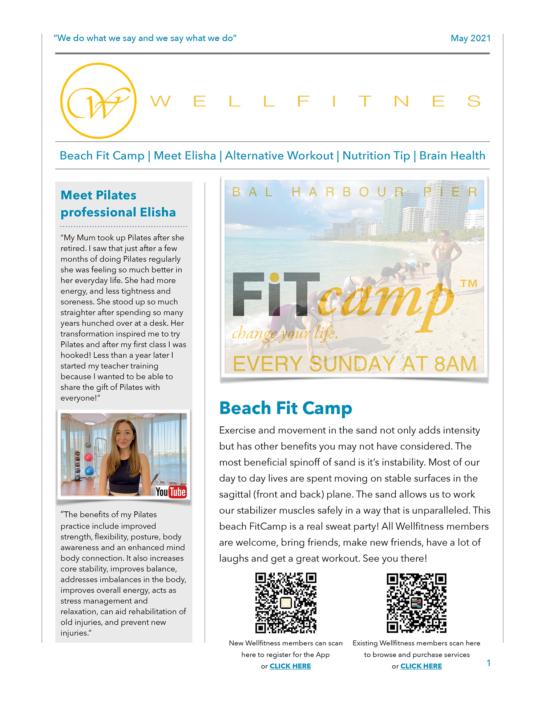 Wellfitness May Newsletter