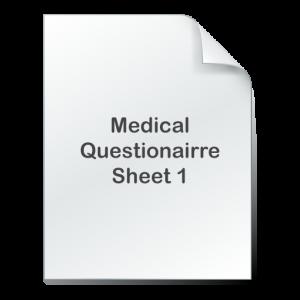 medical questionairre 1