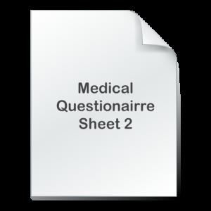medical questionnaire 2