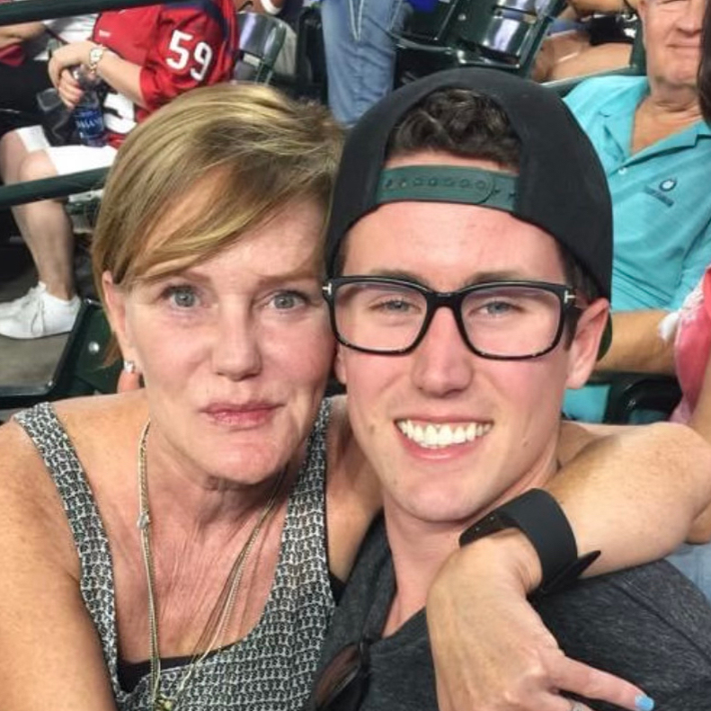 Anne Spellings with son Mason
