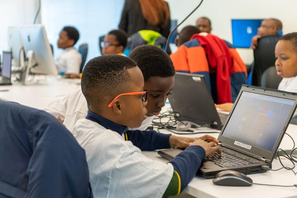BlackboysCode learners using a computer
