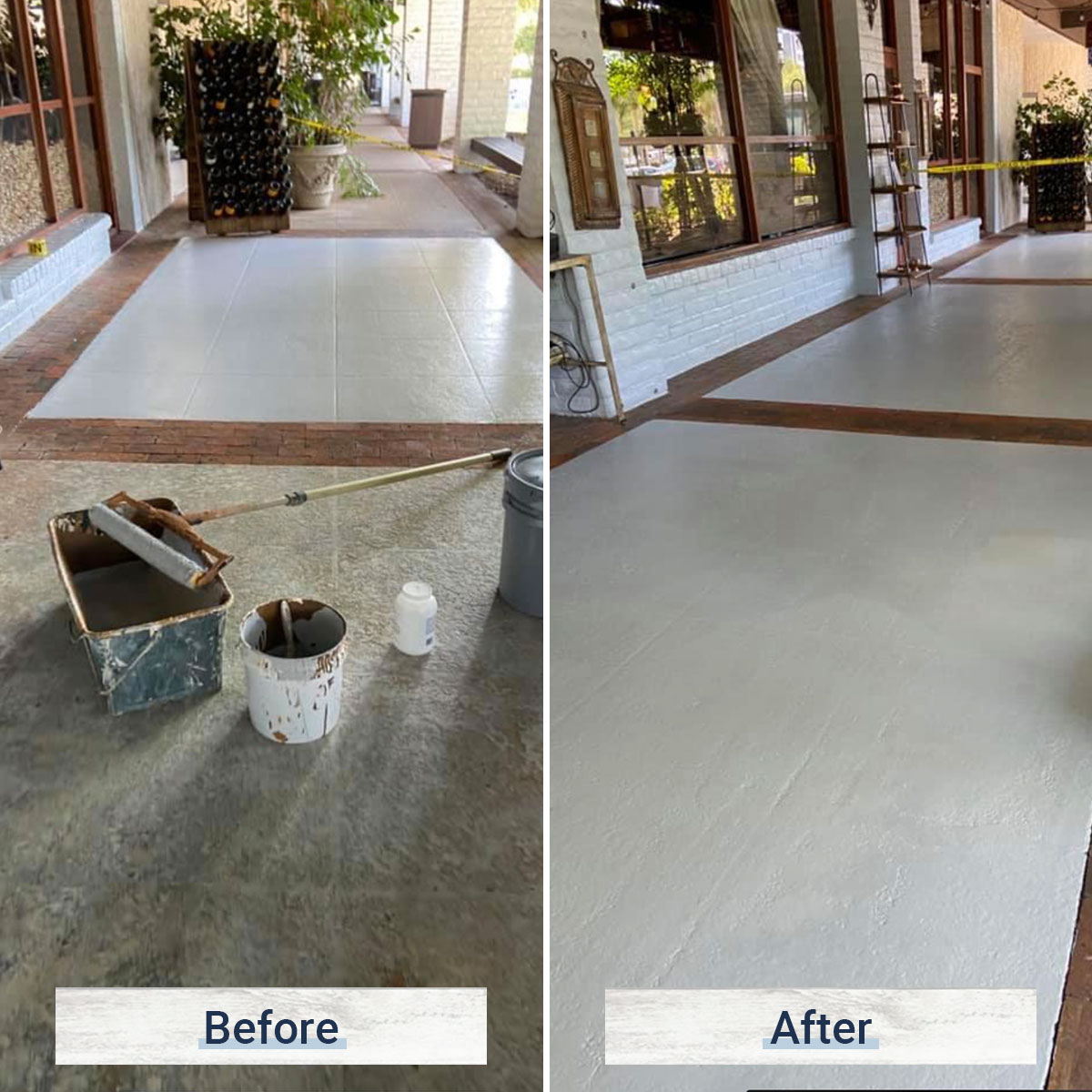 concrete 2 before and after