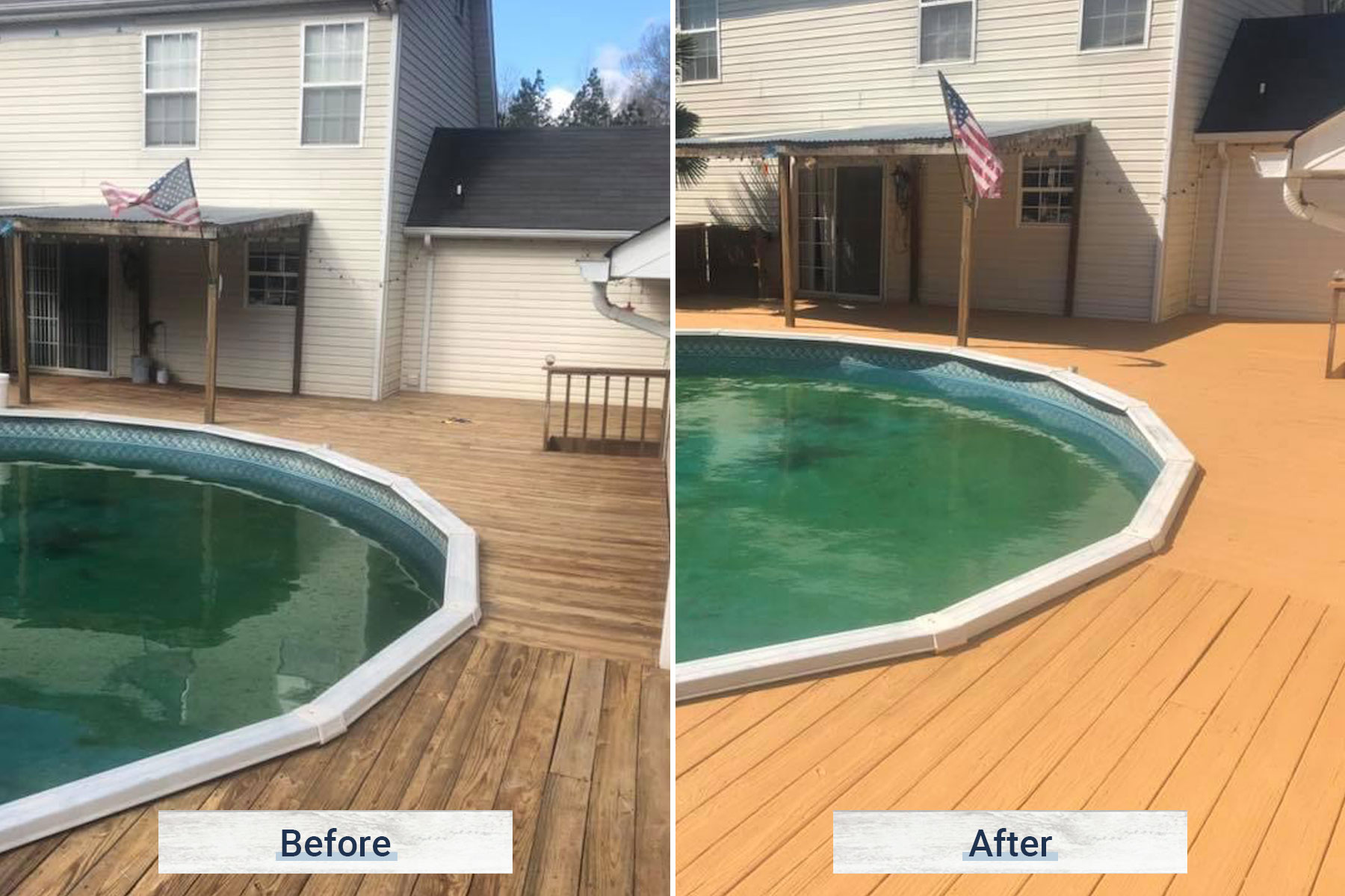 deck 5 before and after