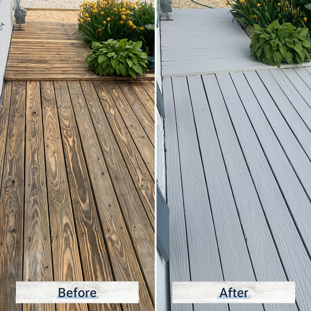 dock 2 before and after