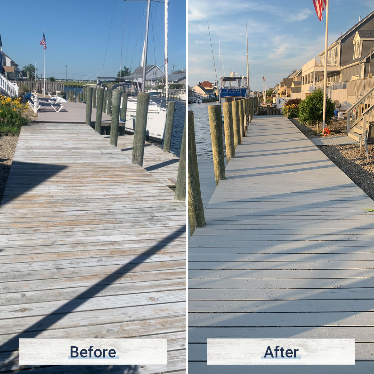 dock 4 before and after