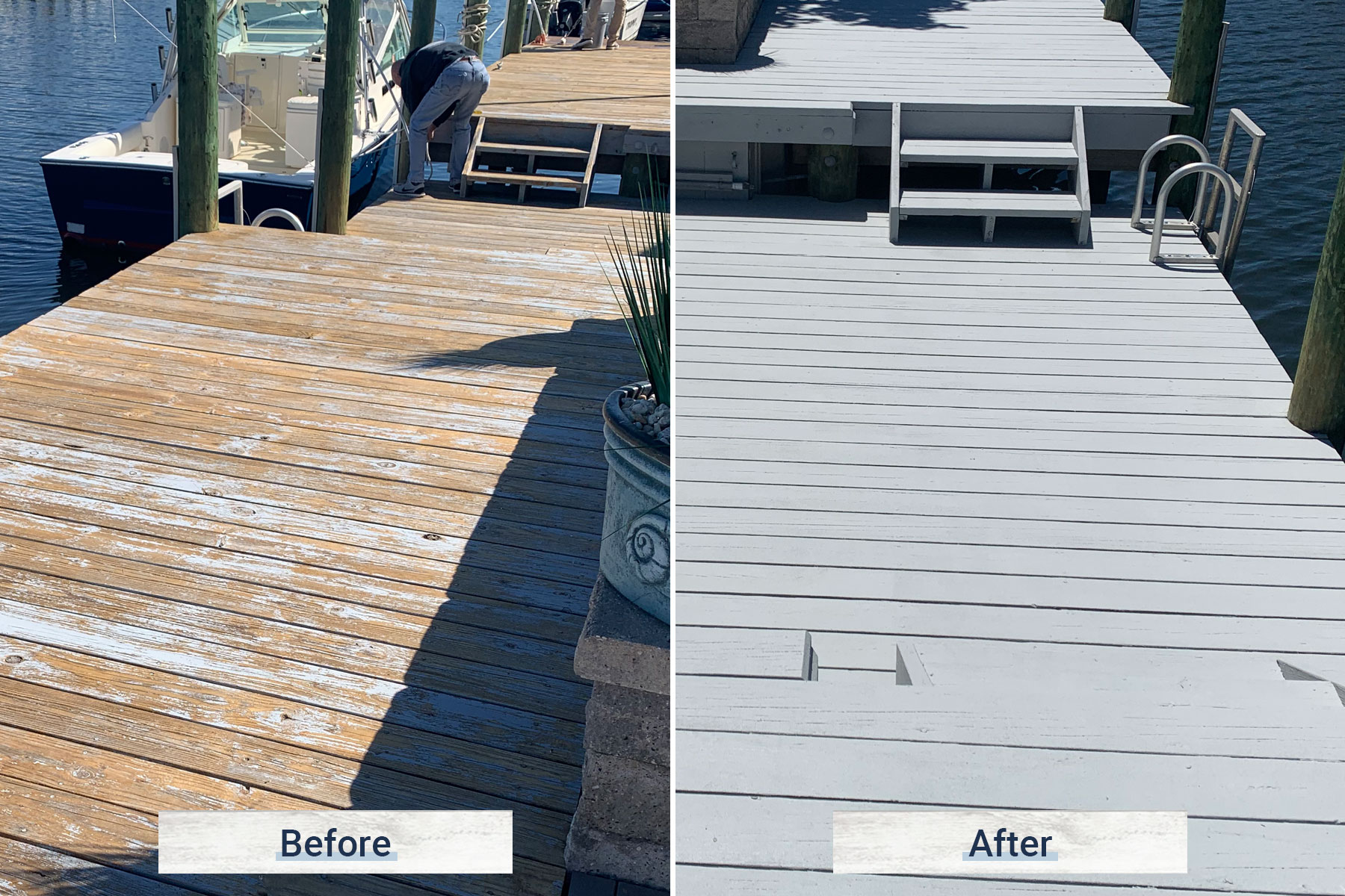 dock 5 before and after