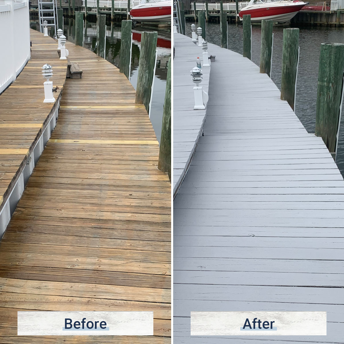 dock 6 before and after