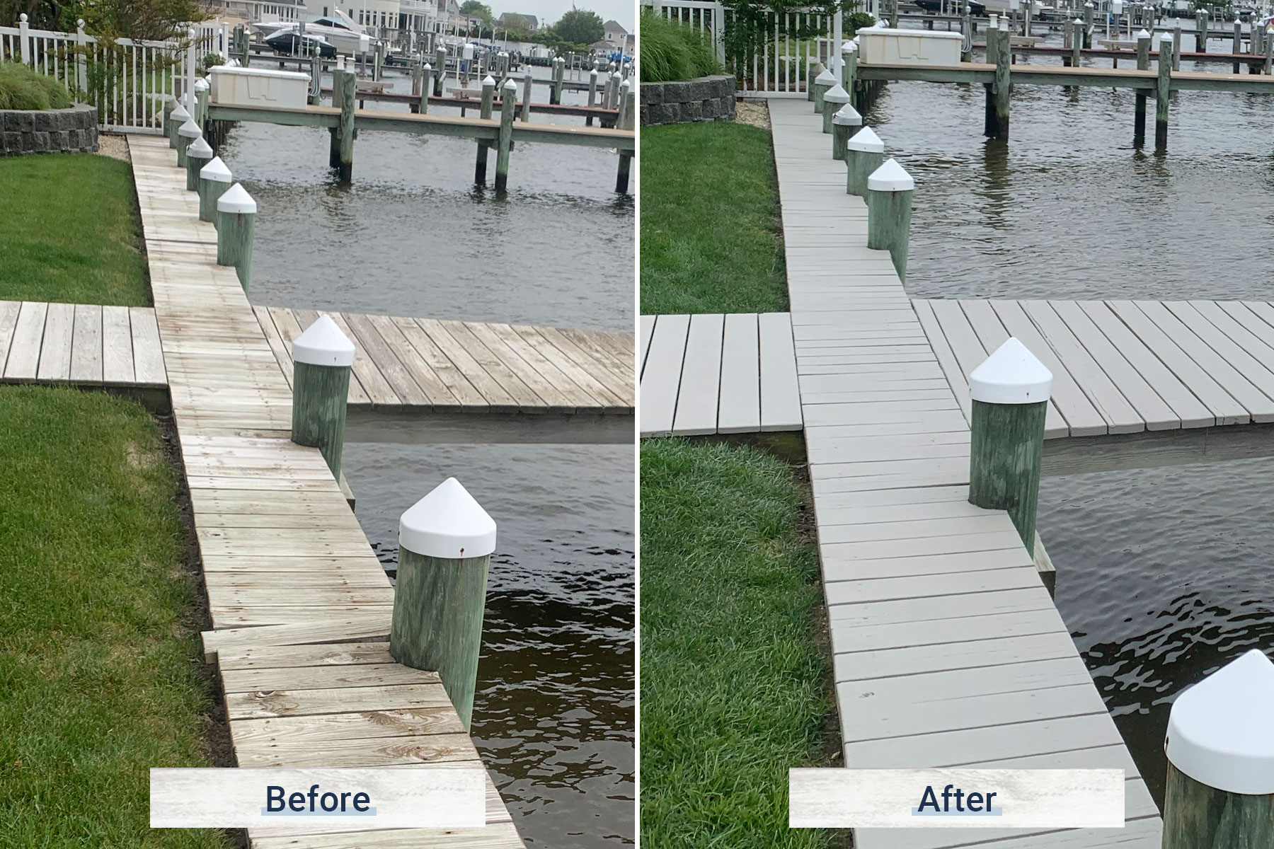 dock 7 before and after