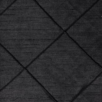 Black Nova Pintuck Linen