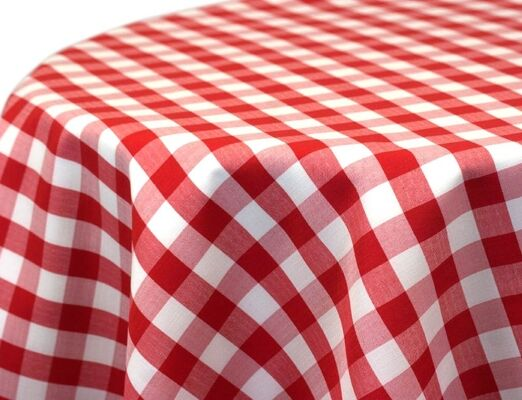 Red Check Linen