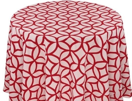 Red Circle Linen