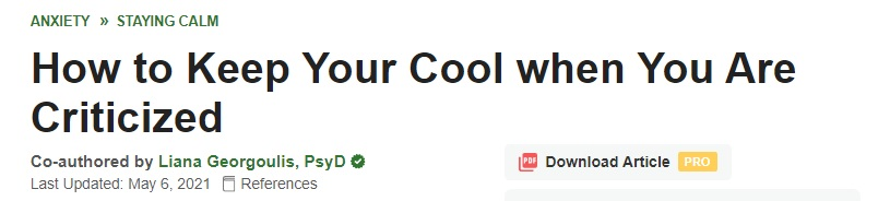 wikihow-dr-liana-how-to-keep-cool-when-criticized