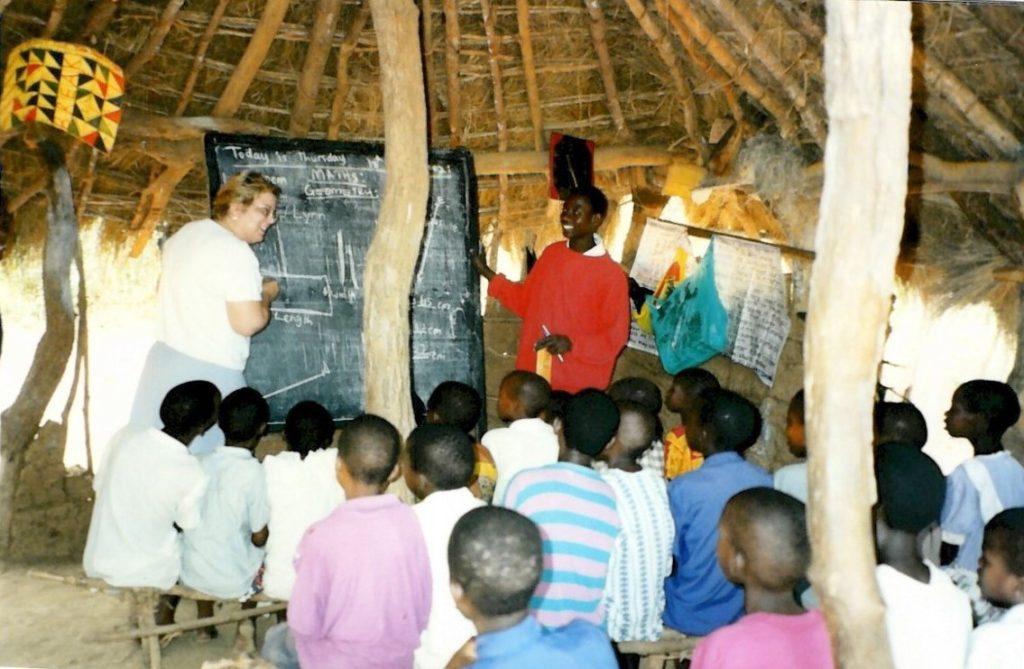 Lynn at a rural Ugandan school