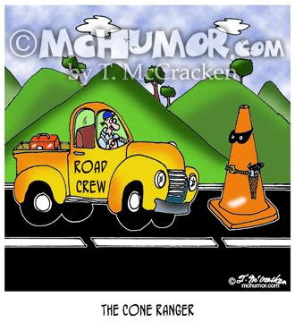 6318 Road Construction Cartoon
